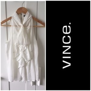 Vince Sleeveless Ruffle Blouse
